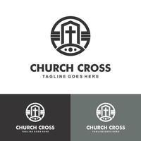 Christian Church Jesus Cross Gospel logo design inspiration vector