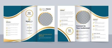 Creative corporate modern business trifold brochure template vector