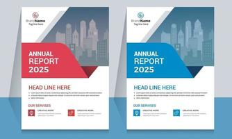 Creative Business Annual Report Template Flyer Design vector