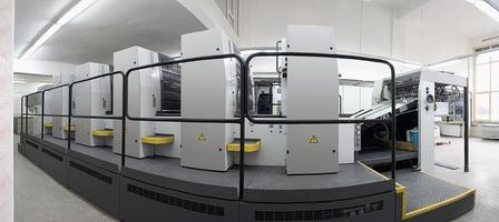 Two, four and five units offset printing machines photo