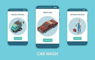 Car Wash Banners vector