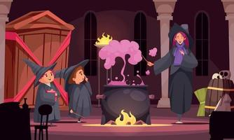 Potion Magic School Composition vector