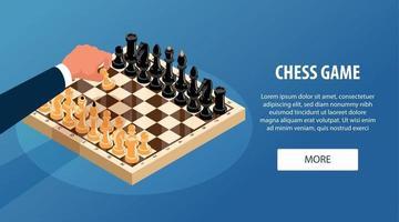 Chess Game Horizontal Banner vector