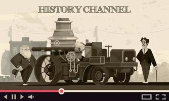 Vintage Cars Transport Composition vector