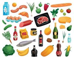 Food Isolated Icons Set vector