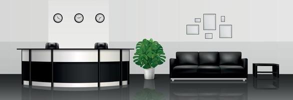 Office Interior Realistic Illustration vector