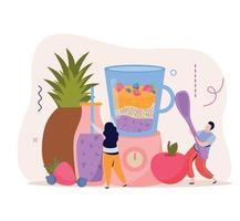 Blender Vegan Food Background vector