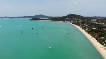 Beautiful high view of nature with sea ocean video