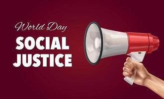 fondo del día mundial de la justicia social vector