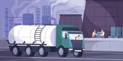 ilustración de fondo de la industria petrolera vector