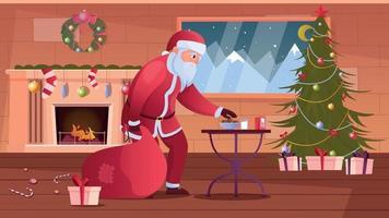Santa Flat Illustration vector