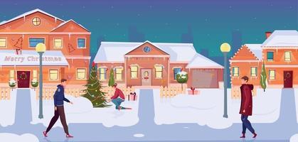 Christmas Houses Illustration vector