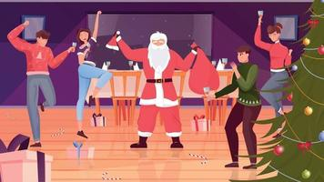 Christmas Party Flat Background vector