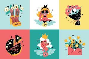 Womens Day Design Concept vector
