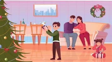 Christmas Flat Illustration vector