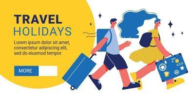 Holiday Travel Horizontal Banner vector