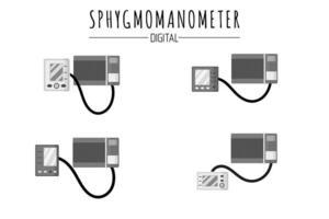 Medical diagnostic device blood pressure monitors or sphygmomanometers vector