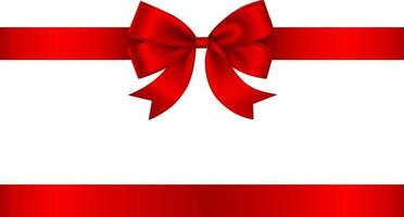 red bow and ribbon for christmas and birthday decorations vector