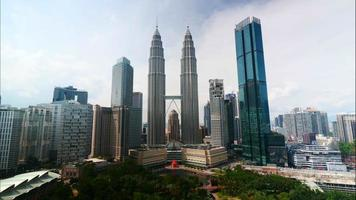 Petronas twin tower in the city at Malaysia video