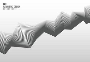 Abstract design of gray line pattern zig zag template background. vector