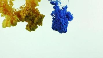 Abstract Colorful Ink Spread in Underwater video