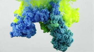 Ink Spread Smoothly in Aquarium Water video