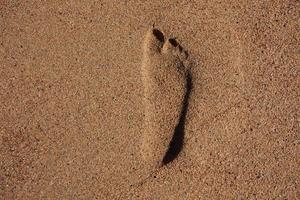 huella de pies humanos foto