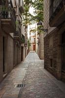 Narrow streets in the old town photo