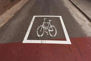 designación aplicada a una bicicleta de carretera foto