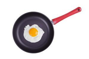 huevos fritos en una plancha grande foto
