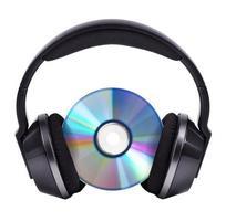CD in black wireless stereo headphones photo