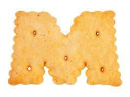 galletas en forma de letra m foto