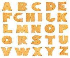 letras del alfabeto en forma de galleta foto