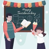 feliz Día del Profesor vector