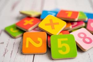 Math number colorful, education study mathematics learning photo