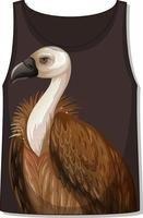 Front of tank top sleeveless with vulture pattern vector