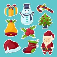 Christmas Sticker Collection vector