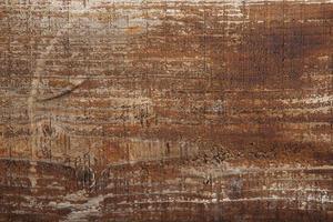 Superficie de madera vieja de color marrón. foto