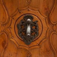 tirador de puerta elegante vintage foto