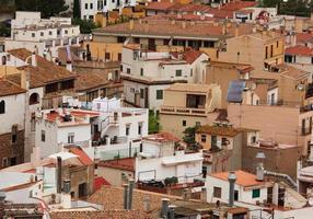 muchas casas pequeñas con techos de tejas foto