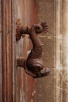 Tirador de puerta antiguo en forma de pez foto