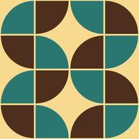 70's Geometric shapes pattern. Vintage Style Mid Century Modern Vector