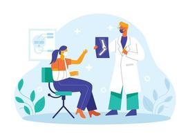 Bone doctor checking patients illustration concept vector