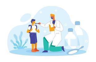 Children doctor illustration concept vector
