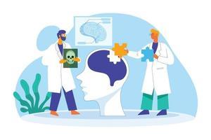 Brain doctor vector illustration concept