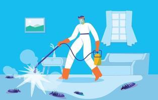 Pest control concept illustration vector