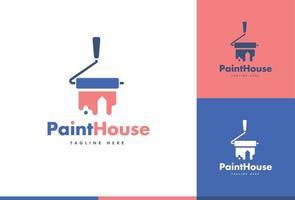 Paint house logo design vector concept