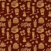 coffee drinks seamless pattern vector