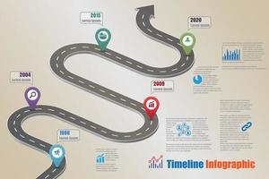 Business roadmap timeline infographic, Vector Illustration