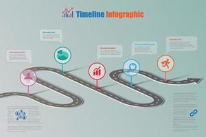 Business road map timeline infographic, Vector Illustration